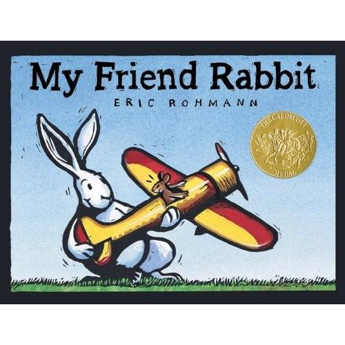 《My Friend Rabbit (Board Book) 我的兔子朋友》绘本简介