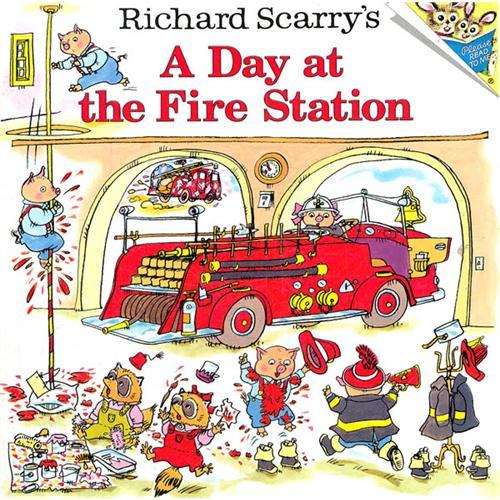 《斯凯瑞童书-消防站的一天》绘本简介
